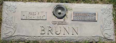 BRUNN, FRED F - Maricopa County, Arizona | FRED F BRUNN - Arizona Gravestone Photos