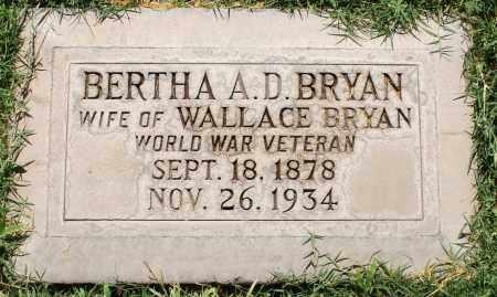 BRYAN, BERTHA A D - Maricopa County, Arizona | BERTHA A D BRYAN - Arizona Gravestone Photos