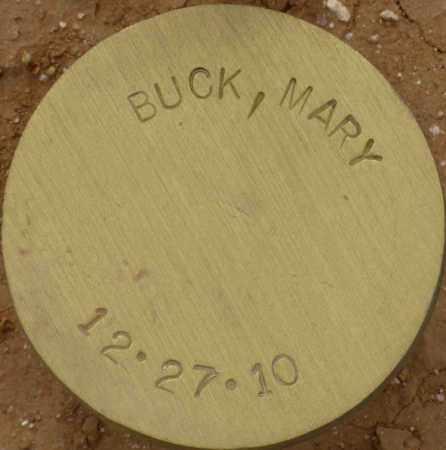 BUCK, MARY - Maricopa County, Arizona | MARY BUCK - Arizona Gravestone Photos