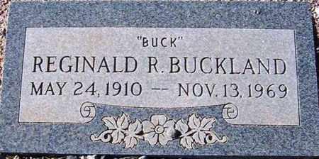 BUCKLAND, REGINALD R. (BUCK) - Maricopa County, Arizona | REGINALD R. (BUCK) BUCKLAND - Arizona Gravestone Photos