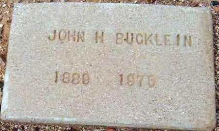 BUCKLEIN, JOHN H. - Maricopa County, Arizona   JOHN H. BUCKLEIN - Arizona Gravestone Photos