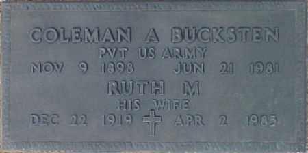 BUCKSTEN, COLEMAN A. - Maricopa County, Arizona | COLEMAN A. BUCKSTEN - Arizona Gravestone Photos