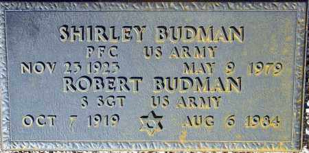 BUDMAN, SHIRLEY - Maricopa County, Arizona | SHIRLEY BUDMAN - Arizona Gravestone Photos