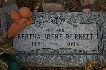 BURKETT, BERTHA IRENE - Maricopa County, Arizona | BERTHA IRENE BURKETT - Arizona Gravestone Photos