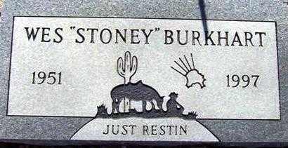 BURKHART, WES (STONEY) - Maricopa County, Arizona | WES (STONEY) BURKHART - Arizona Gravestone Photos