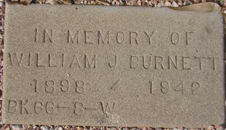 BURNETT, WILLIAM J. - Maricopa County, Arizona   WILLIAM J. BURNETT - Arizona Gravestone Photos