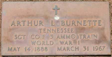BURNETTE, ARTHUR L. - Maricopa County, Arizona | ARTHUR L. BURNETTE - Arizona Gravestone Photos