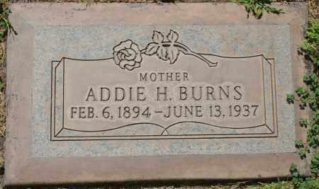BURNS, ADDIE H. - Maricopa County, Arizona | ADDIE H. BURNS - Arizona Gravestone Photos