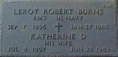 BURNS, LEROY ROBERT - Maricopa County, Arizona | LEROY ROBERT BURNS - Arizona Gravestone Photos