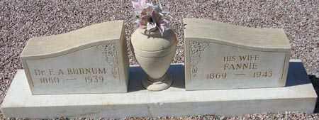 BURNUM, F. A. - Maricopa County, Arizona | F. A. BURNUM - Arizona Gravestone Photos