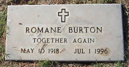 BURTON, ROMANE - Maricopa County, Arizona | ROMANE BURTON - Arizona Gravestone Photos