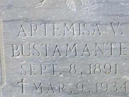 BUSTAMANTE, ARTEMISA V. - Maricopa County, Arizona   ARTEMISA V. BUSTAMANTE - Arizona Gravestone Photos