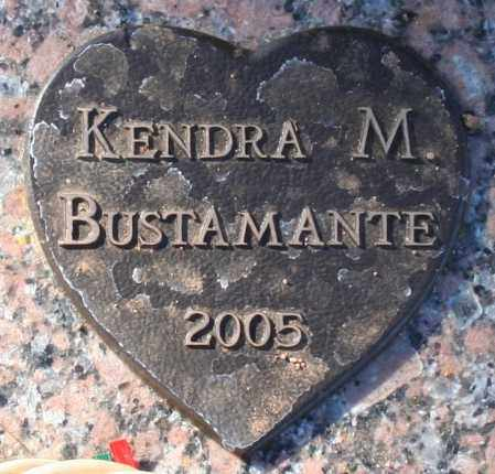 BUSTAMANTE, KENDRA M - Maricopa County, Arizona | KENDRA M BUSTAMANTE - Arizona Gravestone Photos