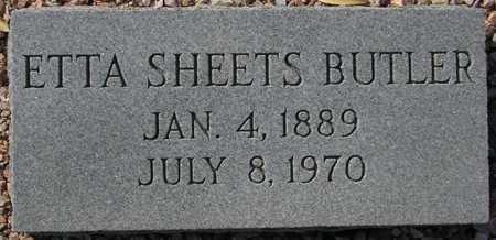 BUTLER, ETTA SHEETS - Maricopa County, Arizona | ETTA SHEETS BUTLER - Arizona Gravestone Photos
