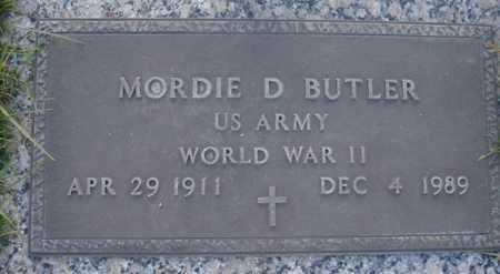 BUTLER, MORDIE D - Maricopa County, Arizona | MORDIE D BUTLER - Arizona Gravestone Photos
