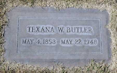 BUTLER, TEXANA W. - Maricopa County, Arizona | TEXANA W. BUTLER - Arizona Gravestone Photos