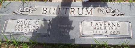 BUTTRUM, LAVERNE - Maricopa County, Arizona | LAVERNE BUTTRUM - Arizona Gravestone Photos