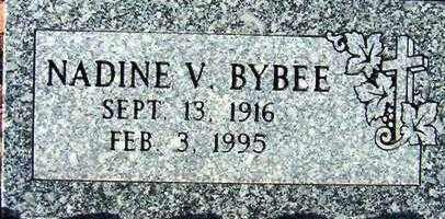 BYBEE, NADINE V. - Maricopa County, Arizona | NADINE V. BYBEE - Arizona Gravestone Photos