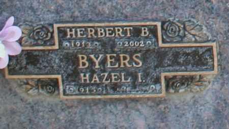BYERS, HAZEL I - Maricopa County, Arizona | HAZEL I BYERS - Arizona Gravestone Photos
