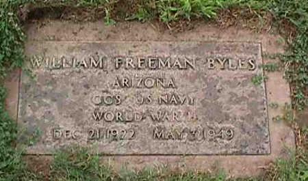 BYLES, WILLIAM FREEMAN - Maricopa County, Arizona | WILLIAM FREEMAN BYLES - Arizona Gravestone Photos