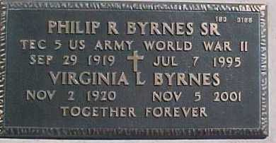 BYRNES, VIRGINIA L. - Maricopa County, Arizona | VIRGINIA L. BYRNES - Arizona Gravestone Photos
