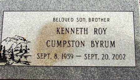 BYRUM, KENNETH ROY CUMPSTON - Maricopa County, Arizona | KENNETH ROY CUMPSTON BYRUM - Arizona Gravestone Photos