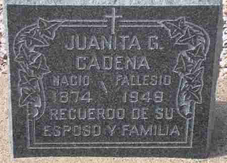 CADENA, JUANITA G. - Maricopa County, Arizona | JUANITA G. CADENA - Arizona Gravestone Photos