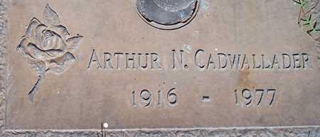 CADWALLADER, ARTHUR N. - Maricopa County, Arizona | ARTHUR N. CADWALLADER - Arizona Gravestone Photos