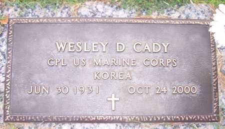 CADY, WESLEY D. - Maricopa County, Arizona   WESLEY D. CADY - Arizona Gravestone Photos