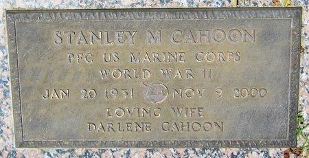 CAHOON, STANLEY M. - Maricopa County, Arizona | STANLEY M. CAHOON - Arizona Gravestone Photos