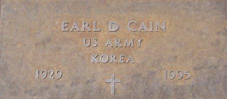 CAIN, EARL D. - Maricopa County, Arizona | EARL D. CAIN - Arizona Gravestone Photos