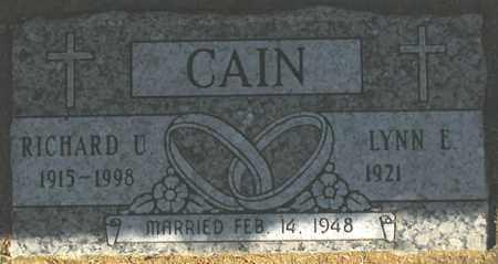 CAIN, LYNN E. - Maricopa County, Arizona | LYNN E. CAIN - Arizona Gravestone Photos
