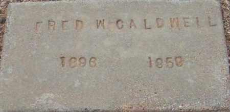 CALDWELL, FRED W. - Maricopa County, Arizona | FRED W. CALDWELL - Arizona Gravestone Photos