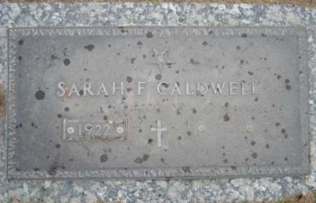 CALDWELL, SARAH F. - Maricopa County, Arizona | SARAH F. CALDWELL - Arizona Gravestone Photos