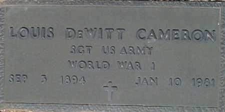 CAMERON, LOUIS DEWITT - Maricopa County, Arizona   LOUIS DEWITT CAMERON - Arizona Gravestone Photos