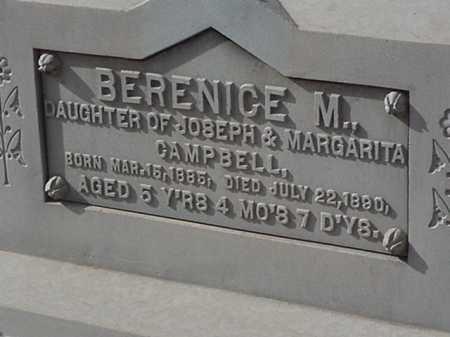 CAMPBELL, BERENICE M - Maricopa County, Arizona | BERENICE M CAMPBELL - Arizona Gravestone Photos