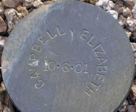 CAMPBELL, ELIZABETH - Maricopa County, Arizona | ELIZABETH CAMPBELL - Arizona Gravestone Photos