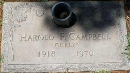 "CAMPBELL, HAROLD F. ""CURLY"" - Maricopa County, Arizona | HAROLD F. ""CURLY"" CAMPBELL - Arizona Gravestone Photos"
