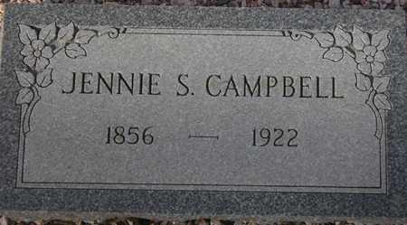 CAMPBELL, JENNIE S. - Maricopa County, Arizona   JENNIE S. CAMPBELL - Arizona Gravestone Photos