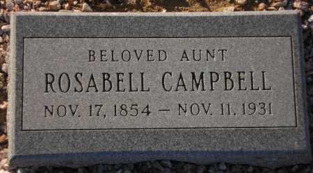CAMPBELL, ROSABELL - Maricopa County, Arizona | ROSABELL CAMPBELL - Arizona Gravestone Photos