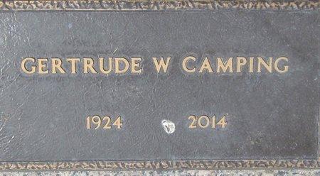 CAMPING, GERTRUDE W. - Maricopa County, Arizona | GERTRUDE W. CAMPING - Arizona Gravestone Photos
