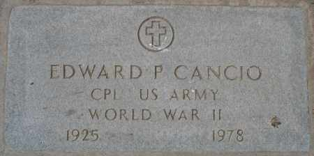 CANCIO, EDWARD P. - Maricopa County, Arizona | EDWARD P. CANCIO - Arizona Gravestone Photos
