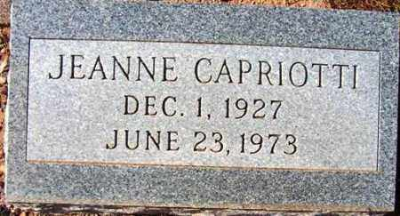 CAPRIOTTI, JEANNE - Maricopa County, Arizona | JEANNE CAPRIOTTI - Arizona Gravestone Photos