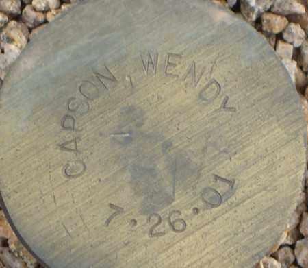 CAPSON, WENDY - Maricopa County, Arizona   WENDY CAPSON - Arizona Gravestone Photos
