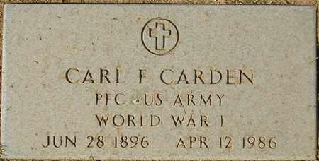 CARDEN, CARL F. - Maricopa County, Arizona   CARL F. CARDEN - Arizona Gravestone Photos