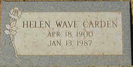 CARDEN, HELEN WAVE - Maricopa County, Arizona | HELEN WAVE CARDEN - Arizona Gravestone Photos