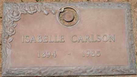 CARLSON, ISABELLE - Maricopa County, Arizona   ISABELLE CARLSON - Arizona Gravestone Photos