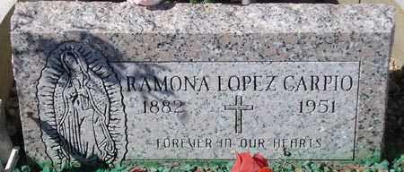 CARPIO, RAMONA LOPEZ - Maricopa County, Arizona   RAMONA LOPEZ CARPIO - Arizona Gravestone Photos
