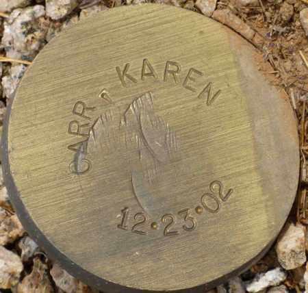 CARR, KAREN - Maricopa County, Arizona | KAREN CARR - Arizona Gravestone Photos