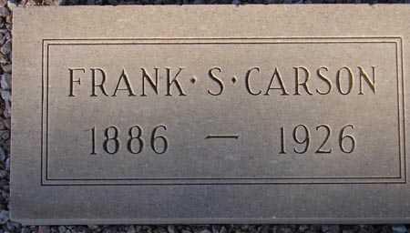 CARSON, FRANK S. - Maricopa County, Arizona | FRANK S. CARSON - Arizona Gravestone Photos
